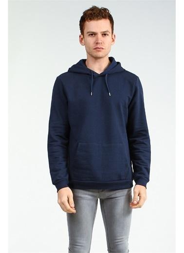 Collezione Collezione Kanguru Cepli Kapuşonlu  Erkek Sweatshirt Lacivert